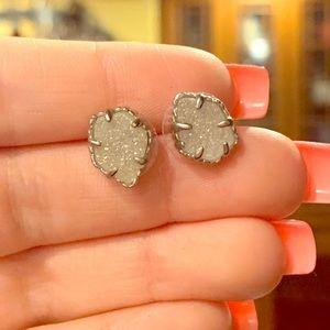 Kendra Scott Silver Drusy Earrings